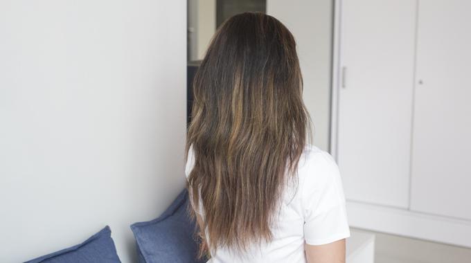 Ombre nabrązowych włosach