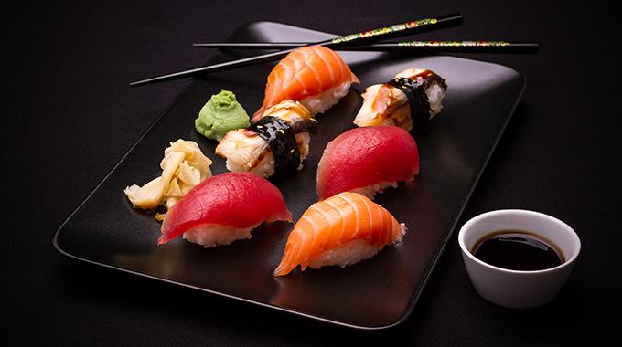 włosy koloru sushi