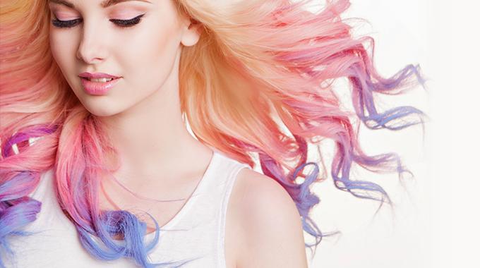 unicorn frappuccino - modna koloryzacja włosów