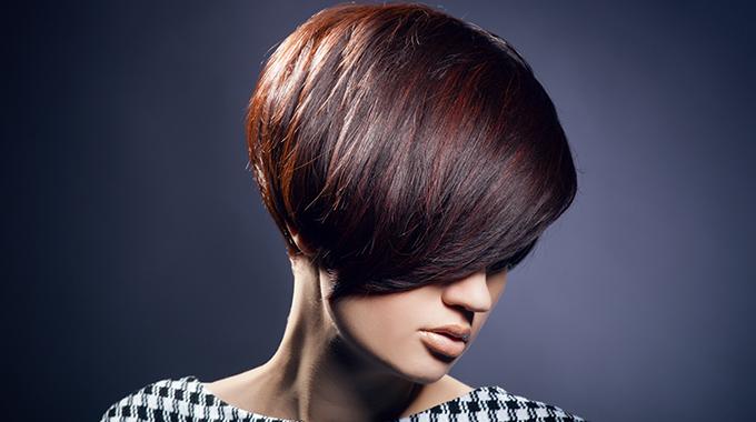 Asymetryczna krótka fryzura