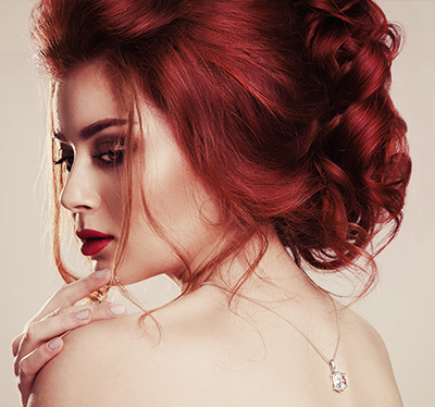 czerwone włosy