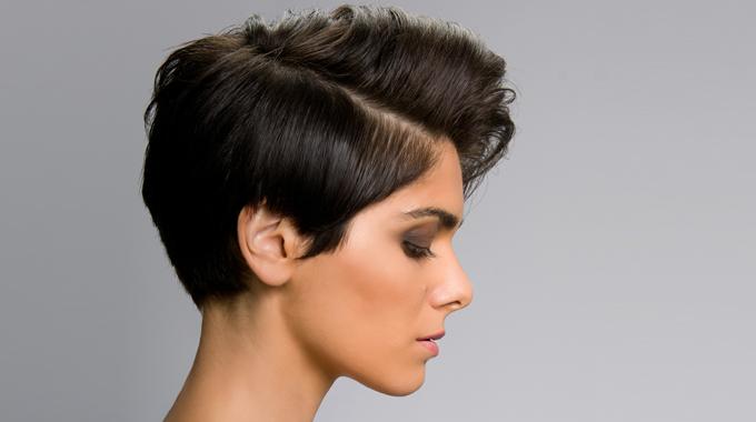 Krótka damska fryzura