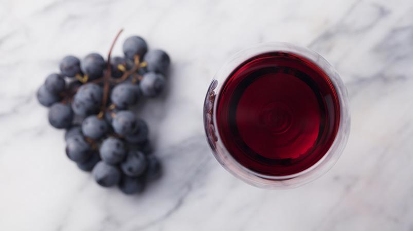 Płukanka zczerwonego wina