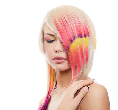 Kolorowe szablony na włosy