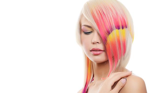 Kolorowe szablony nawłosy