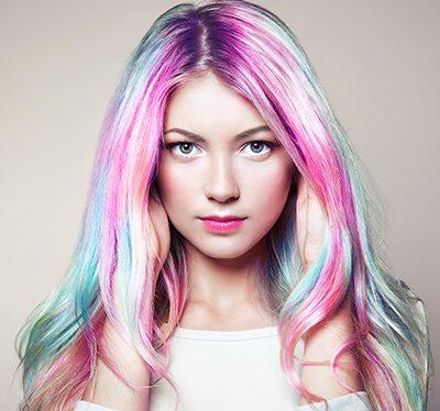 jak farbować włosy kredą