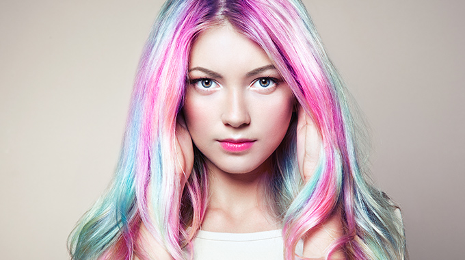 farbowanie włosów kredą