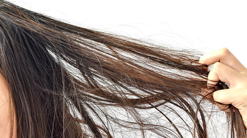 Bardzo suche włosy